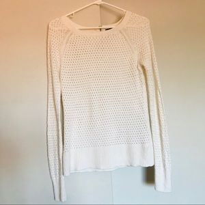 American Eagle soft white knit sweater
